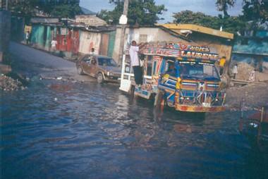 Haïti après le passage d'un cyclone