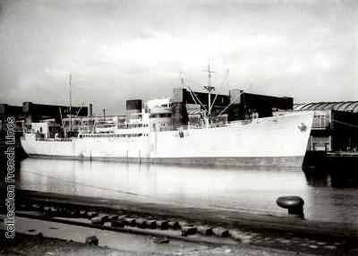 Cargo bananier des années 50, le Barfleur