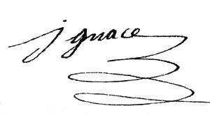 La signature d'Ignace