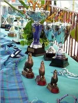 Exposition des coupes et trophées championnat ACM 2007.