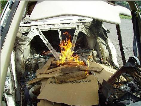 Mise à feu du véhicule