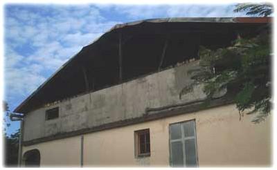 Le deuxième étage completement incendié