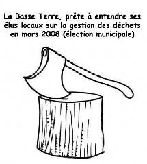 élection en mars 2008 la solution au futurs problemes de déchet en Guadeloupe