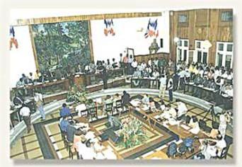 L'hémicycle du conseil Général de la Guadeloupe