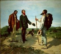 Bonjour Monsieur Courbet, 1854 Huile sur toile - 129 x 149 cm Montpellier, Musée Fabre