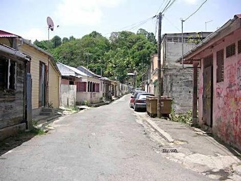 Image du quartier de Boissard aux Abymes.