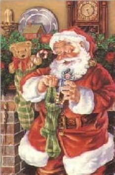 Le Père Noel, d'après une caricature de Thomas Nast