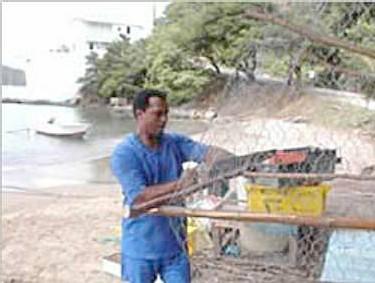 Fabrication de casiers pour les pêcheurs