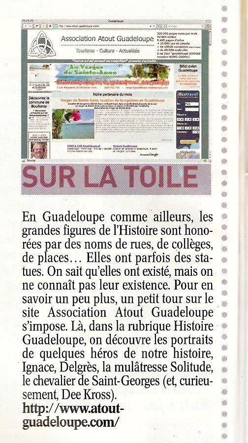 Article sur Atout Guadeloupe dans TV Magazine