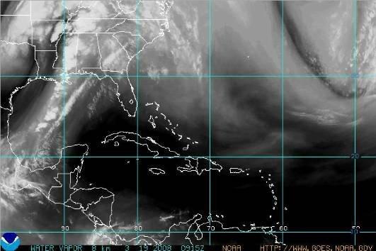 Carte satellite météo du 19 mars 2008