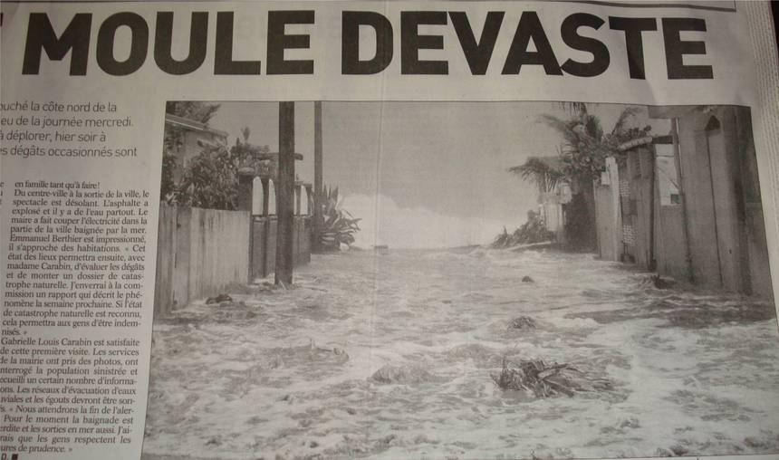 La Guadeloupe dévastée par la houle