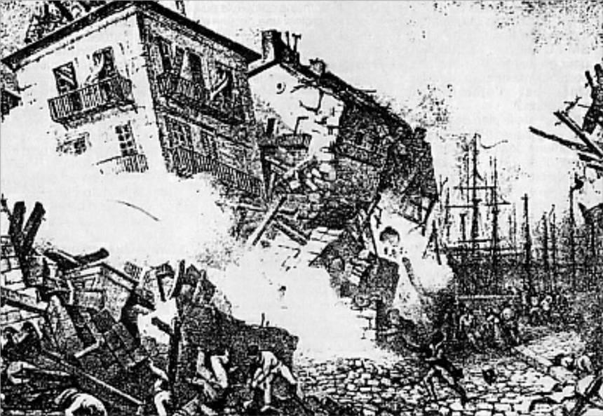Destruction de POINTE à PITRE, en Février 1843.
