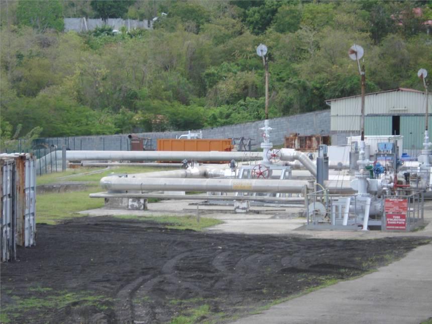 Annexe des installations de l'usine géothermique. Photo Atout-Guadeloupe