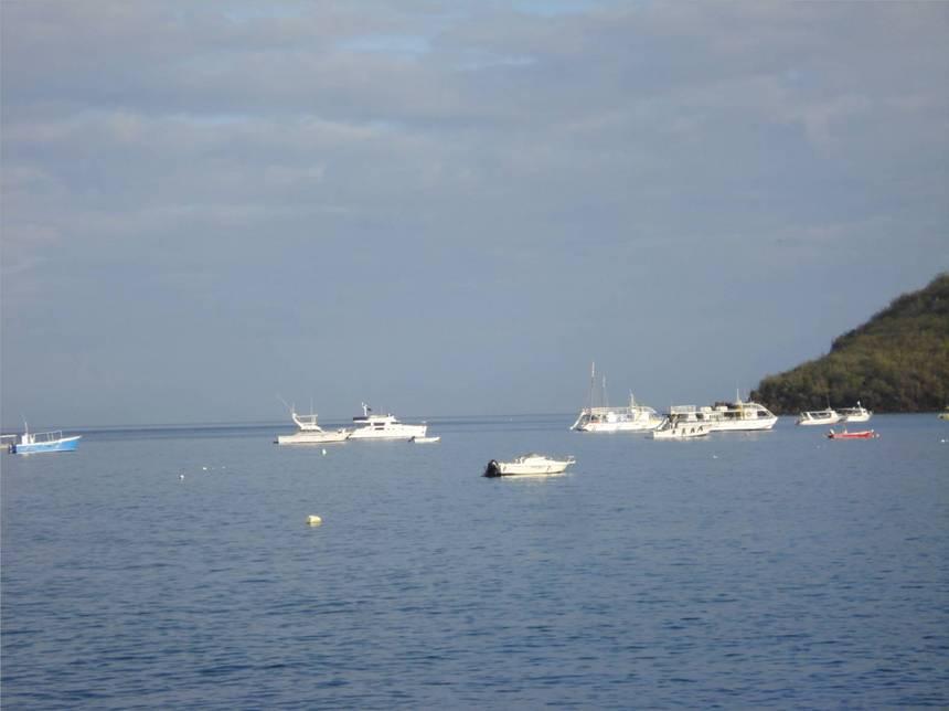 Les bateaux de croisières familiales sont là aussi. Photo Atout-Guadeloupe