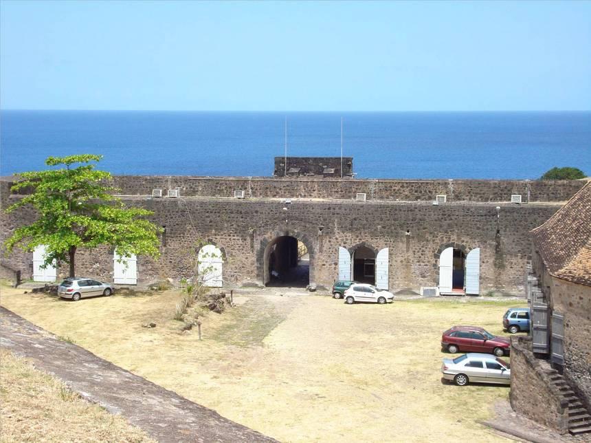 L'entrée du fort DELGRES. Photo Atout-Guadeloupe
