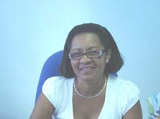 Madame Suzenette GUILLAUME, directrice adjointe de l' IME, Denis FORESTIER. Photo Atout Guadeloupe