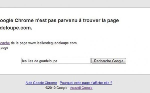 L' office de tourisme de Guadeloupe n'est plus en ligne