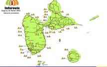 Trafic routier en Guadeloupe en live