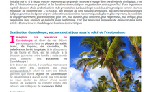 Ecotourisme en Guadeloupe, le revers de la mdaille