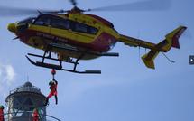 Les pompiers de Guadeloupe sauveteurs en mer en exercice