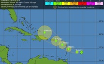 La tempête Maria aujourd'hui sur la Guadeloupe et suivi