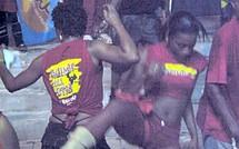 La mi carême en rouge et noir en Guadeloupe