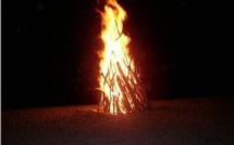 Le feu de la Saint Jean et les Colombophiles.