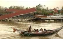 Catastrophe en BIRMANIE, après le cyclone NARGIS.