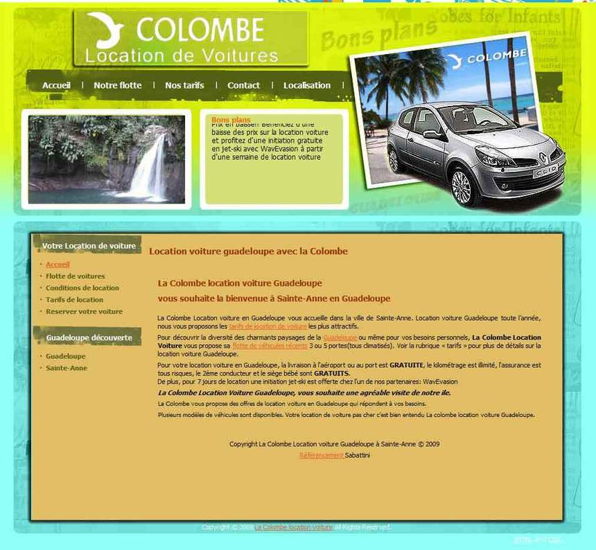 la colombe location de voiture sainte anne guadeloupe. Black Bedroom Furniture Sets. Home Design Ideas