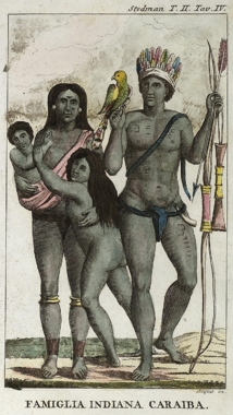 Carib indian family by John Gabriel Stedman