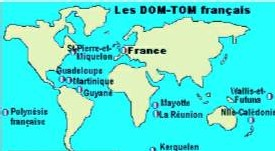 carte des DOM - TOM