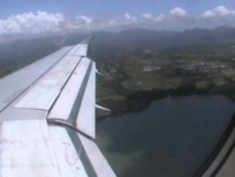 Atterrissage avion Air Canada en Guadeloupe