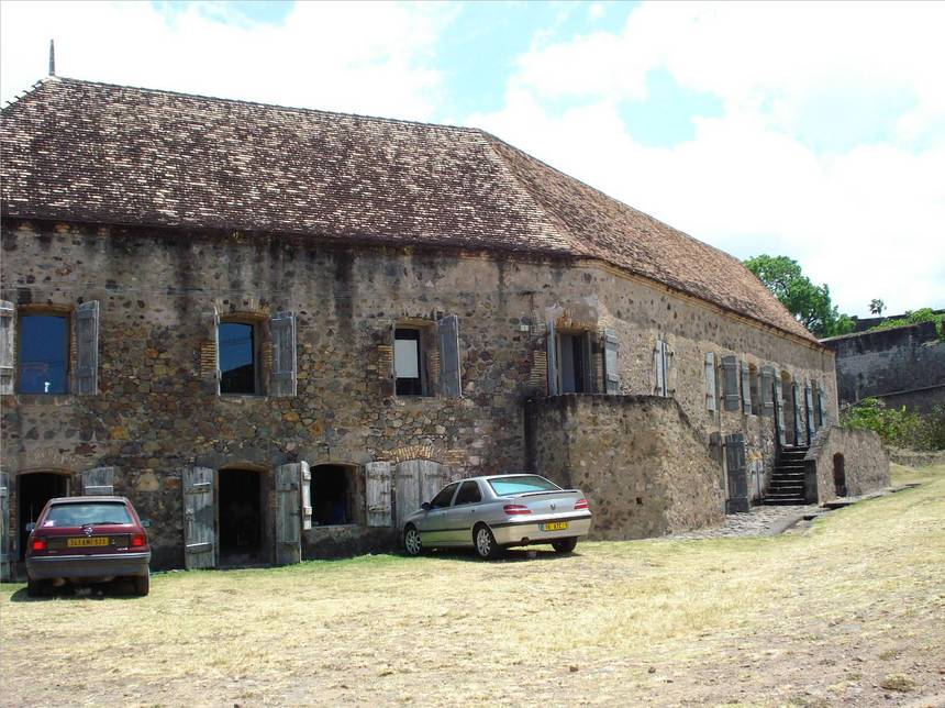 Casernement du fort DELGRES. Photo Atout-Guadeloupe